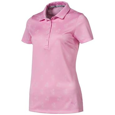 Puma Ladies Burst Into Bloom Polo Shirt Pink