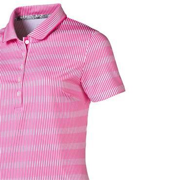 Puma Ladies Forward Tees Polo Shirt Fuchsia