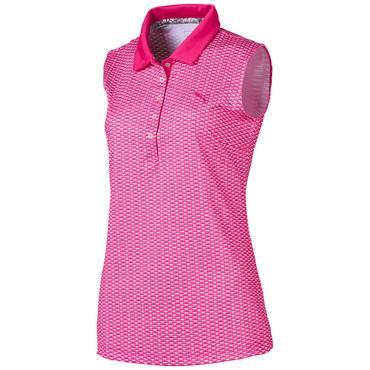 Puma Ladies Dawn Sleeveless Polo Shirt Fuchsia