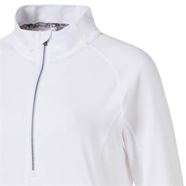 Puma Ladies Rotation 1/4 Zip Bright White
