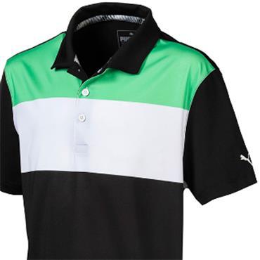 Puma Junior-Boys Nineties Polo Green - Black