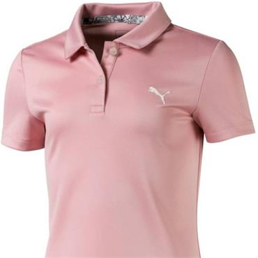 Puma Junior Girls Essential Polo Pink