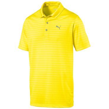 Puma Gents Rotation Stripe Polo Shirt Blazing Yellow