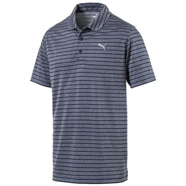 Puma Gents Rotation Stripe Polo Shirt Peacoat