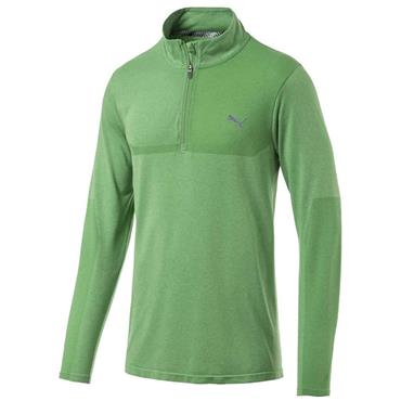 Puma Gents evoKnit ¼ Zip Top Green