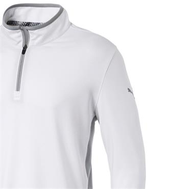 Puma Gents Rotation 1/4 Zip Top White