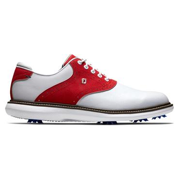 FootJoy Gents Traditons Limited Edition Shoes White - Red