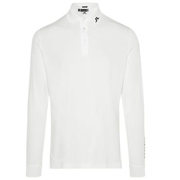 J.Lindeberg Gents Tour Tech Long Sleeve Reg Tx Jersey Polo Shirt White