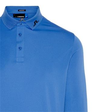 J.Lindeberg Gents Tour Tech Long Sleeve Reg TX Polo Shirt Blue
