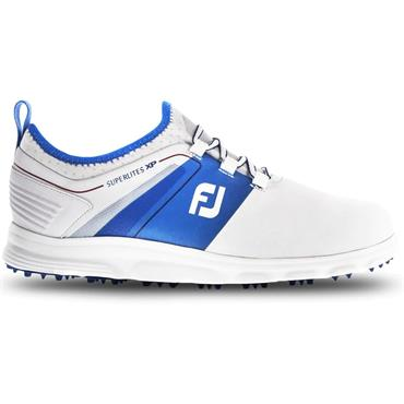 FootJoy SuperLites XP Medium Fit Golf Shoes White - Blue - Red