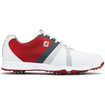 FootJoy Gents Energize Golf Shoes Wide Fit White - Red