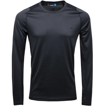 J.Lindeberg Gents Active Long Sleeve Elements T-Shirt Black Melange