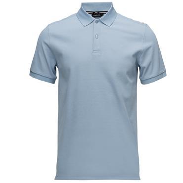 J.Lindeberg Gents Troy Clean Pique Polo Shirt Blue