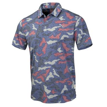 Puma Gents Raleigh Polo Shirt Blue Heather