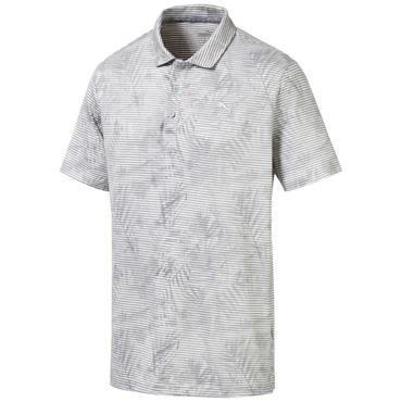 Puma Gents Fronds Polo Shirt Quarry