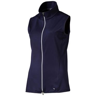 Puma Ladies Full Zip Knit Golf Vest Peacoat