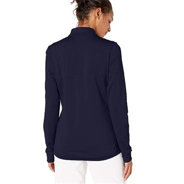 Puma Ladies Full Zip Knit Golf Jacket Peacoat