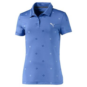 Puma Girls Ditsy Polo Shirt Ultramarine