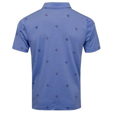 Puma Gents Ditsy Polo Shirt Blue Heather