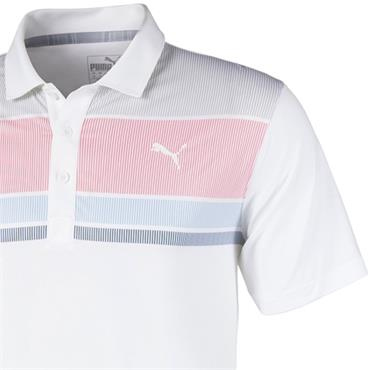 Puma Gents Road Map Polo Rapture Rose