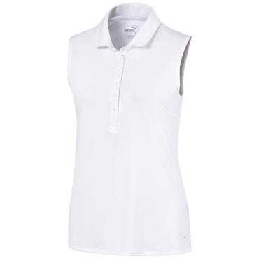 Puma Ladies S/L Rotation Polo Bright White