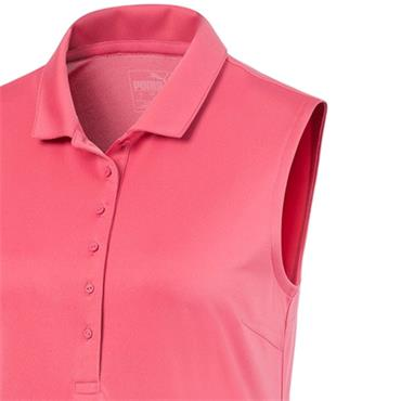 Puma Ladies S/L Rotation Polo Rapture Rose