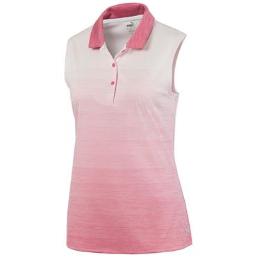 Puma Ladies Ombre S/L Polo Rapture Rose