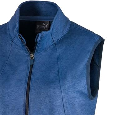 Puma Ladies Warm Up Vest Dark Denim Heather