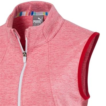 Puma Ladies Warm Up Vest Rapture Rose