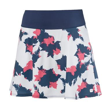 Puma Ladies Floral Skirt Dark Denim