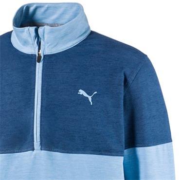 Puma Gents Warm Up 1/4 Zip Blue Bell