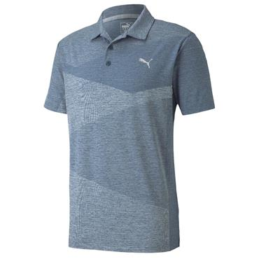 Puma Gents AlterKnit Jacquard Polo Shirt Dark Denim