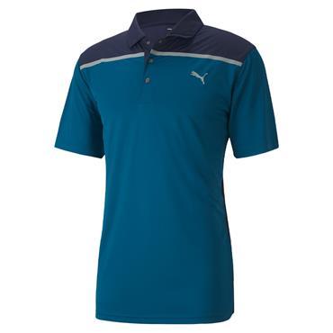 Puma Gents Bonded Polo Shirt Digi Blue