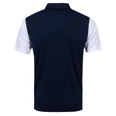 Puma Gents Bonded Polo Shirt White - Navy