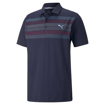 Puma Gents Cloudspun Road Map Polo Shirt Navy Blazer