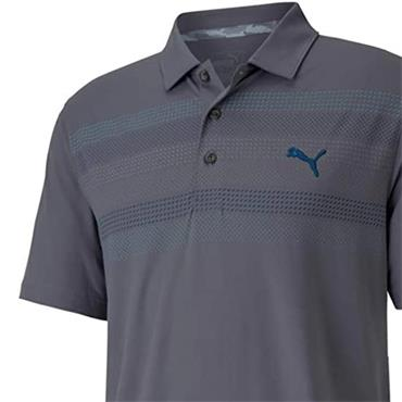 Puma Gents Cloudspun Road Map Polo Shirt Quiet Shade
