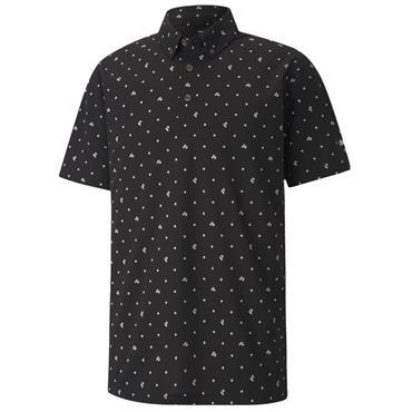 Puma Gents Pique Polo Shirt Black