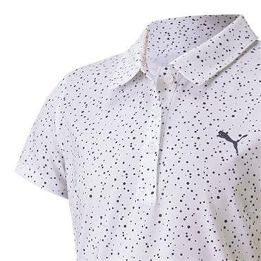 Puma Girls Polka Dot Polo Shirt Bright White