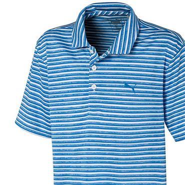Puma Junior - Boys Links Polo Shirt Ibiza Blue