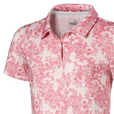Puma Junior - Girls Floral Polo Shirt Youths Rosewater