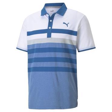 Puma Gents MATTR One Way Polo Blue - Grey