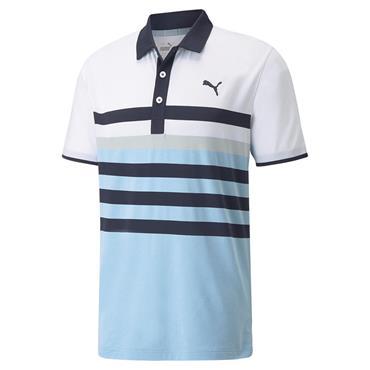 Puma Gents MATTR One Way Polo Shirt Navy Blazer - Placid Blue