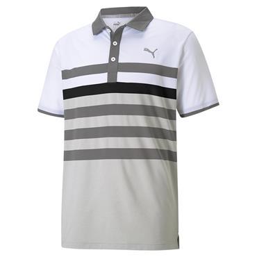 Puma Gents MATTR One Way Polo Shirt Quiet Shade - Puma Black
