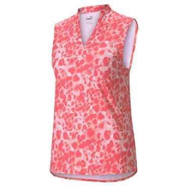 Puma Ladies Cloudspun S/L Polo Peach Pink