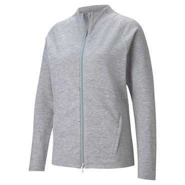 Puma Ladies Cloudspun Full Zip Top Light Grey
