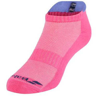 Babolat Ladies Invisible 2 Pairs Pack Socks Clear Fandango Pink - Wedgewood