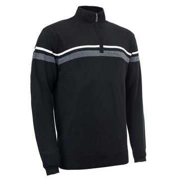 Abacus Gents Auburn Knitted Pullover Black