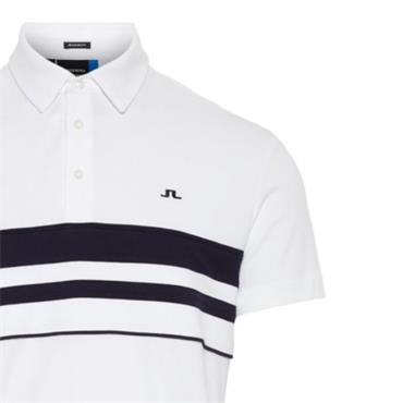 J.Lindeberg Gents Leo Reg Lux Pique Polo Shirt White