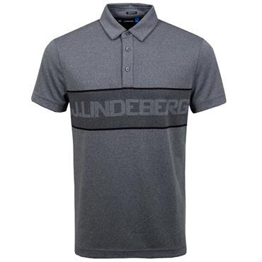 J.Lindeberg Gents Ade Reg Fit TX Jacquard Polo Shirt  Grey - Melange