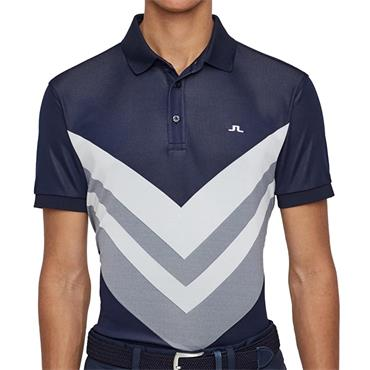 J.Lindeberg Gents Ace Reg Fit TX Jaquard Polo Shirt Navy